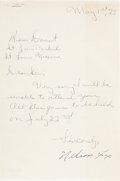 Autographs:Letters, 1973 Handwritten Letter Signed by Nellie Fox....