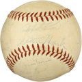 Autographs:Baseballs, 1954 Chicago Cubs Team Signed Baseball. ...
