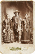 Photography:Cabinet Photos, Cabinet Card of Osage Family in Full Costume, circa 1890....