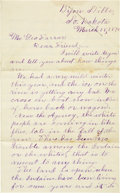 "Western Expansion:Cowboy, Autograph Indian Letter Signed, ""Joseph La Roche, Jr.""..."