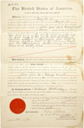 Western Expansion:Indian Artifacts, Indian Affairs Allotment for Land Document, 1901. ...