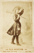 Photography:Cabinet Photos, Cabinet Card of Actress Ullie Akerstrom Dressed as a Wild WestSharpshooter....