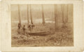 Photography:Cabinet Photos, Photograph of Canoe Maker at Work....