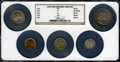 1956 Mint Set, all housed in a single NGC holder: 1C MS65 Red; 5C MS65; 1956 10C MS66; 1956 25C MS65; and a 1956 50C MS6...