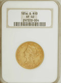 Liberty Eagles: , 1856-S $10 XF40 NGC. NGC Census: (19/200). PCGS Population(30/110). Mintage: 68,000. Numismedia Wsl. Price for NGC/PCGS co...