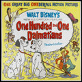 "Movie Posters:Animated, 101 Dalmatians (Buena Vista, 1961). Six Sheet (81"" X 81"").Animated...."