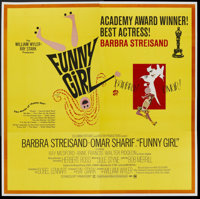 "Funny Girl (Columbia, 1968). Six Sheet (81"" X 81"") Academy Award Style B. Musical"