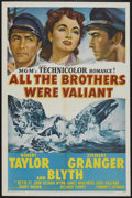 """Movie Posters:Adventure, All the Brothers Were Valiant (MGM, 1953). One Sheet (27"""" X 41"""").Adventure...."""