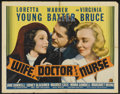 """Movie Posters:Comedy, Wife, Doctor and Nurse (20th Century Fox, 1937). Half Sheet (22"""" X 28"""") Style A. Comedy...."""