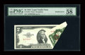 Error Notes:Foldovers, Fr. 1509 $2 1953 Legal Tender Note. PMG Choice About Unc 58.. ...
