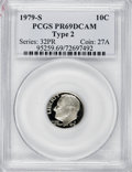 Proof Roosevelt Dimes: , 1979-S 10C Type Two PR69 Deep Cameo PCGS. PCGS Population(2355/99). NGC Census: (331/15). Numismedia Wsl. Price for NGC/P...