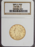 Liberty Eagles, 1848-O $10 XF40 NGC....
