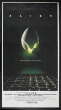 "Movie Posters:Science Fiction, Alien (20th Century Fox, 1979). Three Sheet (41"" X 81""). ScienceFiction. Starring Tom Skerritt, Sigourney Weaver, Veronica ..."