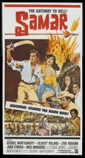 "Movie Posters:Adventure, Samar (Warner Brothers, 1962). Three Sheet (41"" X 81""). Adventure.Starring George Montgomery, Gilbert Roland, Ziva Rodann, ..."