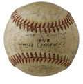 Autographs:Baseballs, 1940 Cincinnati Reds World Champions Team Signed Baseball. The 1940World Series Champion Cincinnati Reds beat the Tigers f...