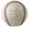 Autographs:Baseballs, 1960 Pittsburgh Pirates World Series Champs Team Signed Baseball.Twenty-eight signatures from the World Champion 1960 Pitt...