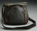 Military & Patriotic:Civil War, Haversack Used by Captain Edward Sellers, 15th Cavalry, Pennsylvania Volunteers. This lot features a rare black leather have...