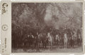 Photography:Cabinet Photos, T. Croft Cabinet Card of Otoe Indian Police on Horseback, 1892....