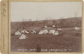 Photography:Cabinet Photos, T. Croft Cabinet Card of Apache Encampment, circa 1890s....