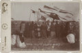 Photography:Cabinet Photos, Wonderful Cabinet Card Image of a Ponca Squaw Dance, 1894....