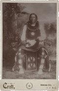 Photography:Cabinet Photos, Croft Cabinet Card of Pawnee Leader Eagle Chief, circa 1880s....