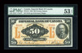 Canadian Currency: , Toronto, ON- Imperial Bank of Canada $50 Nov. 1, 1923 Ch. #375-18-14. ...