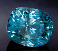 Gems:Faceted, ONE-OF-A-KIND FACETTED BLUE ZIRCON: 40.5 CTS. ...