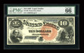 Large Size:Legal Tender Notes, Fr. 106 $10 1880 Legal Tender PMG Gem Uncirculated 66 EPQ....
