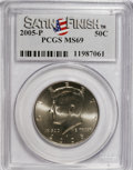 Kennedy Half Dollars, 2005-P 50C Satin Finish MS69 PCGS. PCGS Population (526/7). NGCCensus: (0/0). (#96788)...