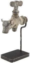 Western Expansion:Cowboy, Early Brass Steer Head Faucet, circa 1900s-1910s. ...