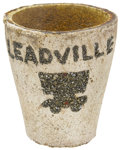 Western Expansion:Goldrush, Gold and Silver Souvenir Crucible, Leadville, Colorado. ...