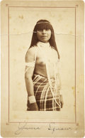 Photography:Cabinet Photos, Boudoir Image of Yuma Squaw, circa 1890....