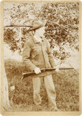 Photography:Cabinet Photos, Photograph of Hunter With Lever-Action Rifle....