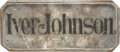 Advertising:Signs, Iver Johnson Silver-Plated Brass Coffin Plaque, 1895. ...