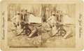 Photography:Stereo Cards, Staged Stereoview Image of Indian Thief, circa 1890s....