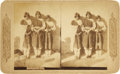 Photography:Stereo Cards, Stereoview of Three Pueblo Indian Girls, circa 1890s....
