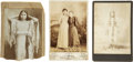 Photography:Cabinet Photos, Three Studio Cabinet Cards of Indian Women, circa 1890s.... (Total:3 Items)