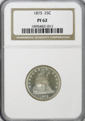 Proof Seated Quarters: , 1875 25C PR62 NGC. NGC Census: (15/100). PCGS Population (33/71).Mintage: 700. Numismedia Wsl. Price for NGC/PCGS coin in ...