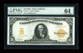 Large Size:Gold Certificates, Fr. 1171 $10 1907 Gold Certificate PMG Choice Uncirculated 64....