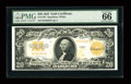 Large Size:Gold Certificates, Fr. 1187 $20 1922 Gold Certificate PMG Gem Uncirculated 66 EPQ....