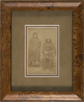American Indian Art:Photographs, A PORTRAIT OF A PLAINS INDIAN COUPLE. c. 1880...
