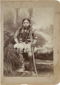 American Indian Art:Photographs, A PHOTOGRAPH OF A KIOWA BOY. c. 1890...
