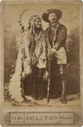 American Indian Art:Photographs, A PORTRAIT OF SITTING BULL AND BUFFALO BILL CODY. c. 1885...