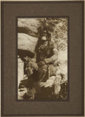 American Indian Art:Photographs, A PORTRAIT OF A HOPI MAN. Carl Moon. c. 1914...