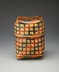 American Indian Art:Baskets, A CHITIMACHA POLYCHROME LIDDED BASKET. c. 1970...