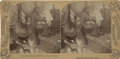 Photography:Stereo Cards, Pristine George Barker Stereoview of Wigwam Interior, 1893....