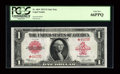 Large Size:Legal Tender Notes, Fr. 40 $1 1923 Legal Tender Star Note PCGS Gem New 66PPQ....