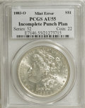 Errors, 1883-O $1 Morgan Dollar--Incomplete Punch Planchet--AU55 PCGS....