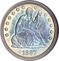 Proof Seated Quarters, 1887 25C PR66 NGC....