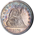 Proof Seated Quarters, 1876 25C PR66 NGC. CAC....